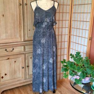 Lauren Conrad Floral Navy Sleeveless Maxi Dress S